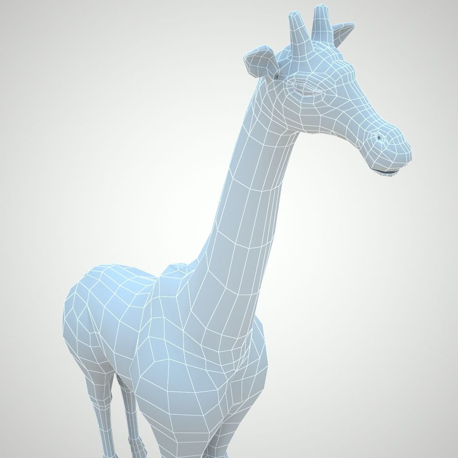 Safari animals collection royalty-free 3d model - Preview no. 17
