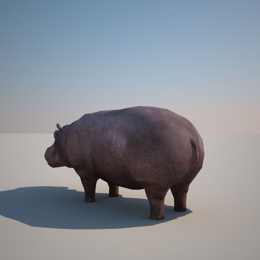 Safari animals collection royalty-free 3d model - Preview no. 28