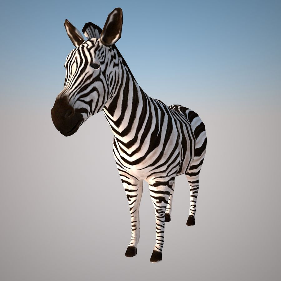 Safari animals collection royalty-free 3d model - Preview no. 6