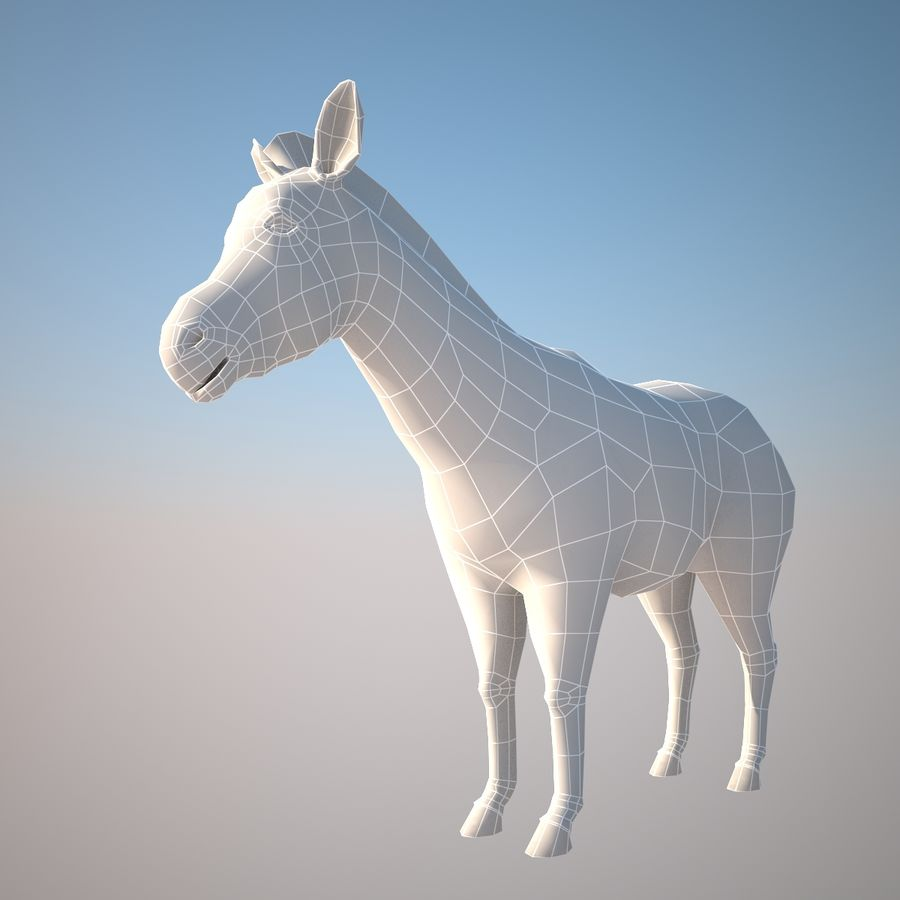 Safari animals collection royalty-free 3d model - Preview no. 9