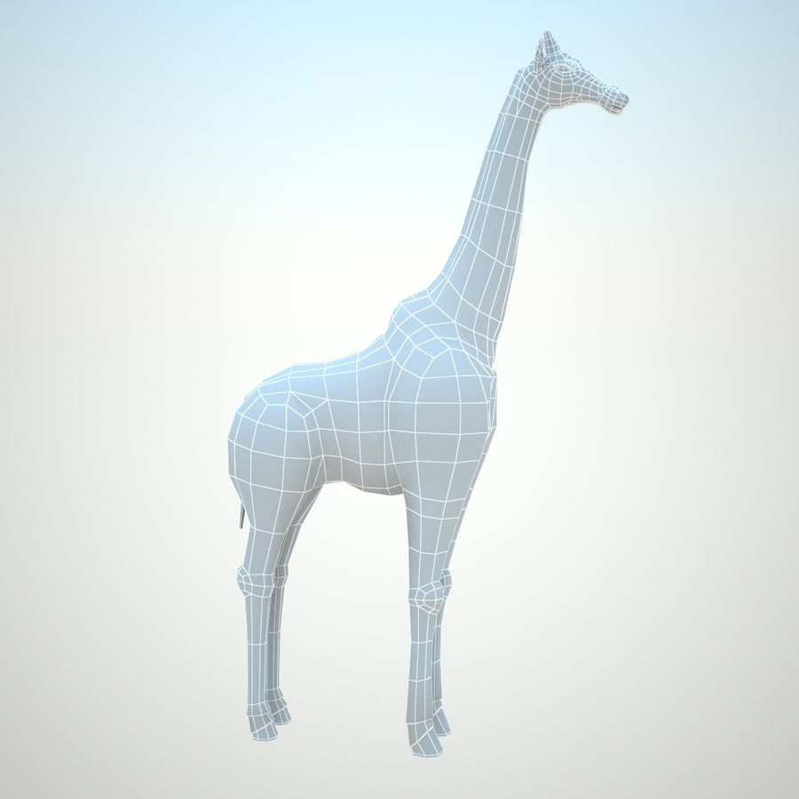 Safari animals collection royalty-free 3d model - Preview no. 15