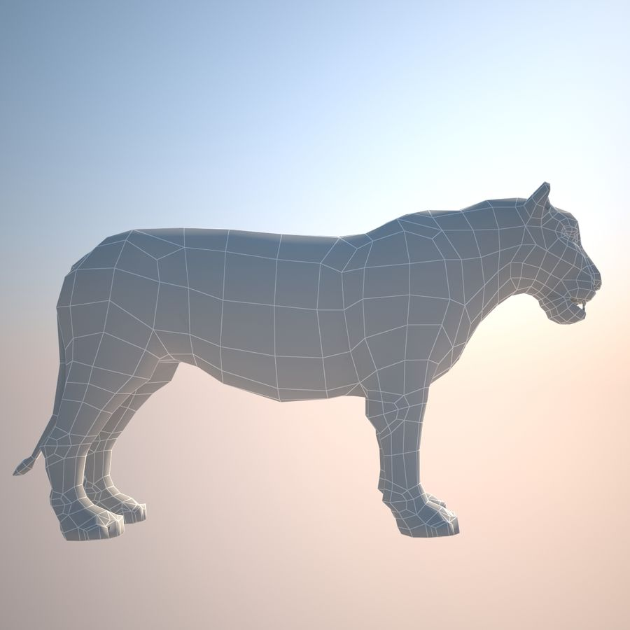 Safari animals collection royalty-free 3d model - Preview no. 39
