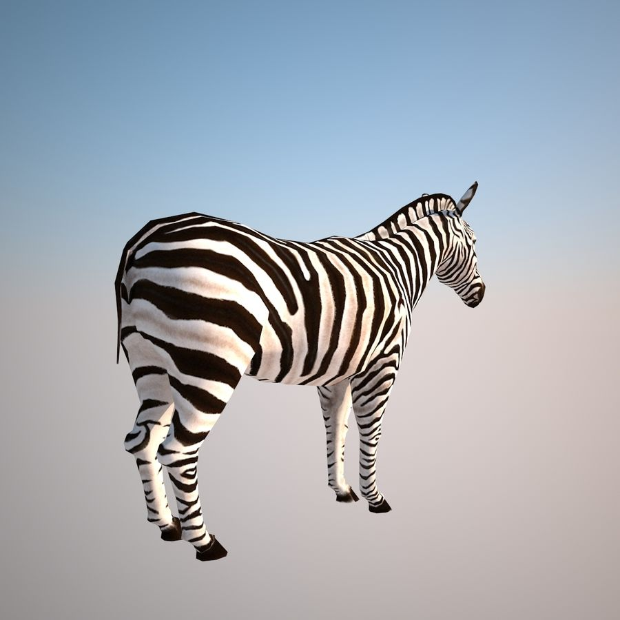 Safari animals collection royalty-free 3d model - Preview no. 5