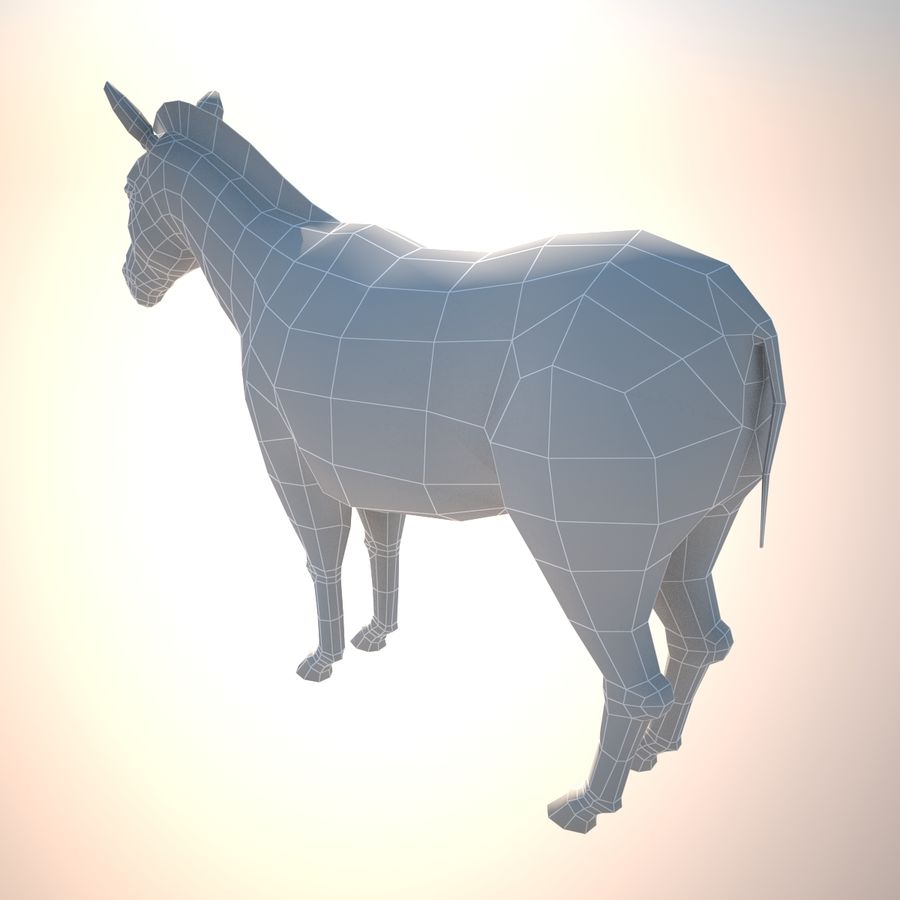 Safari animals collection royalty-free 3d model - Preview no. 8