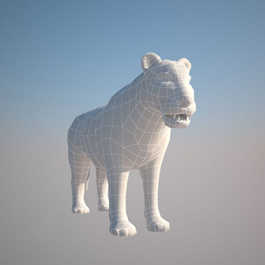 Safari animals collection royalty-free 3d model - Preview no. 40