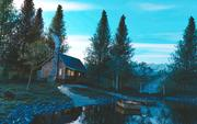 House on a Lake 3d model