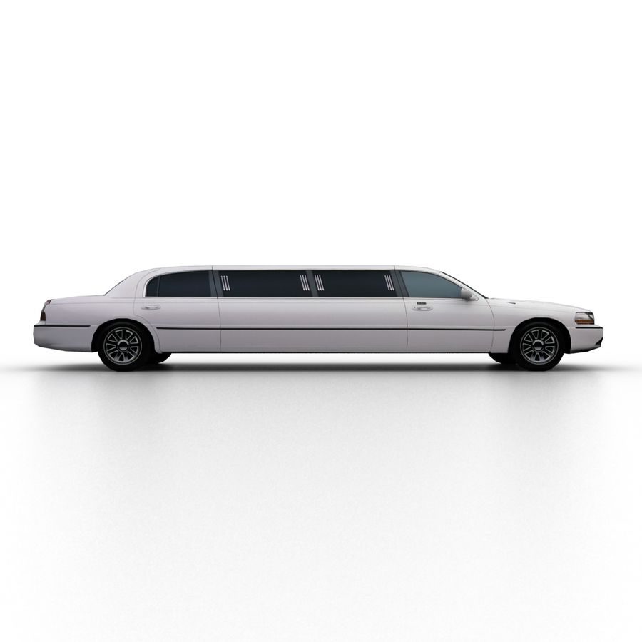 Low Poly Limousine royalty-free 3d model - Preview no. 3