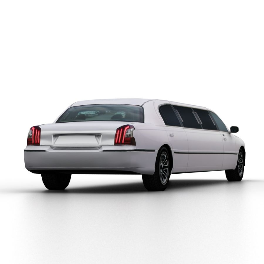 Low Poly Limousine royalty-free 3d model - Preview no. 7