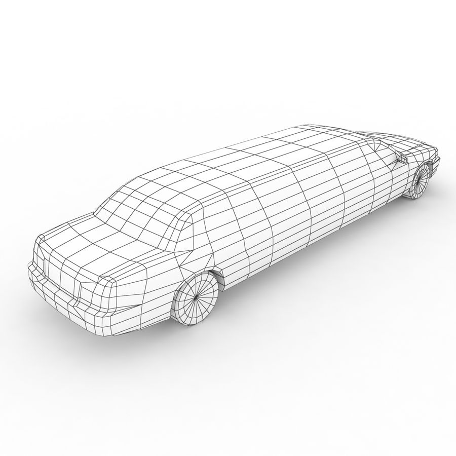 Low Poly Limousine royalty-free 3d model - Preview no. 9