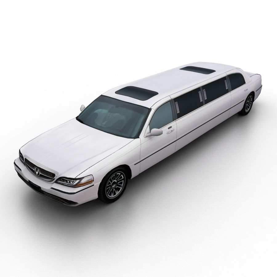 Low Poly Limousine royalty-free 3d model - Preview no. 1