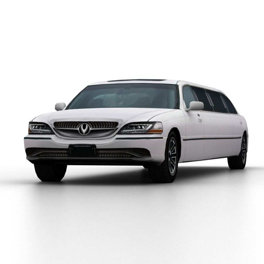 Low Poly Limousine royalty-free 3d model - Preview no. 6