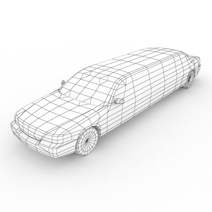 Low Poly Limousine royalty-free 3d model - Preview no. 8