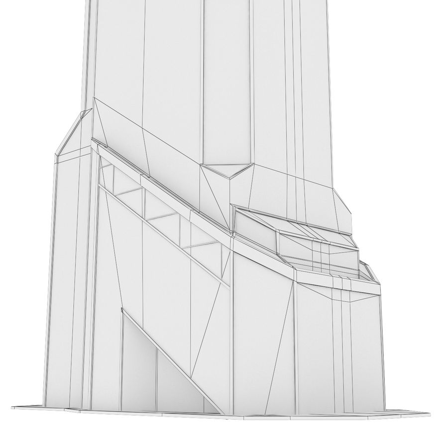 Mercury City Tower royalty-free 3d model - Preview no. 10