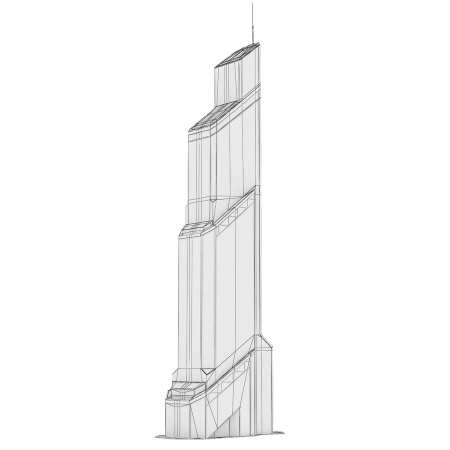 Mercury City Tower royalty-free 3d model - Preview no. 14
