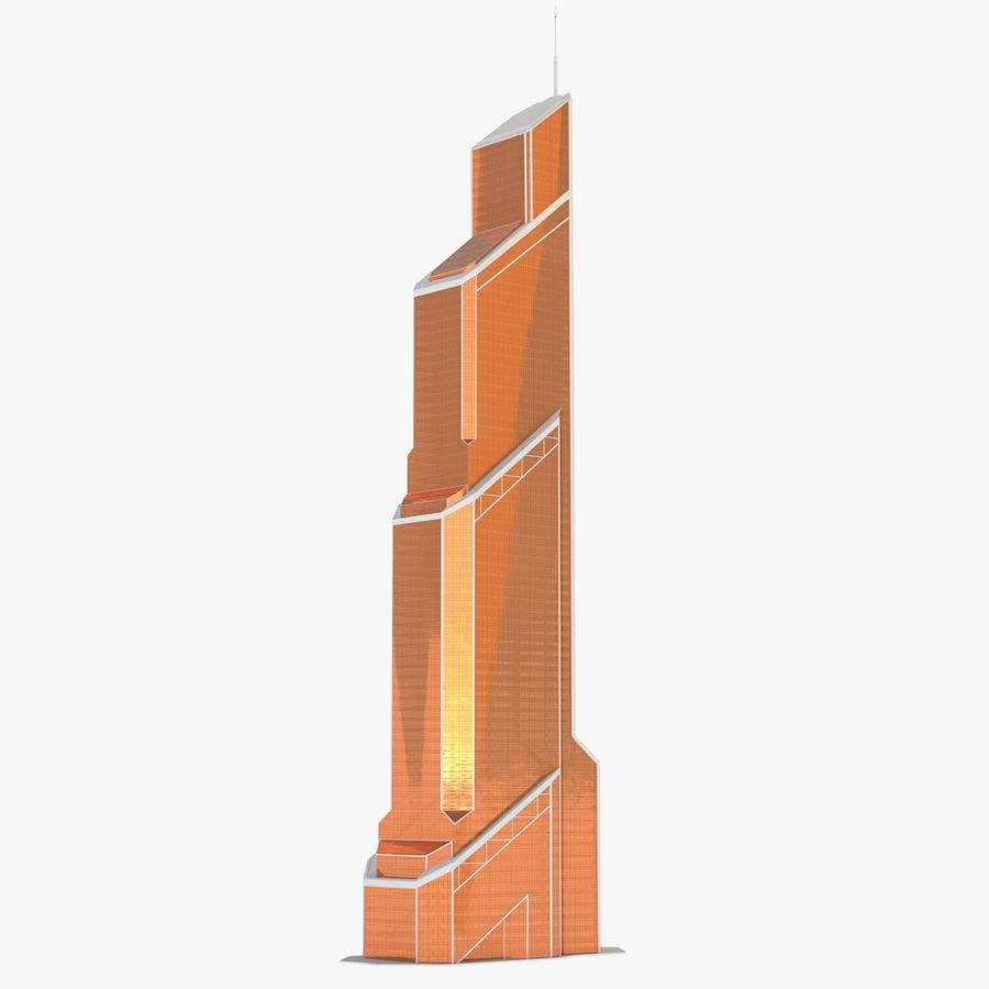 Mercury City Tower royalty-free 3d model - Preview no. 3