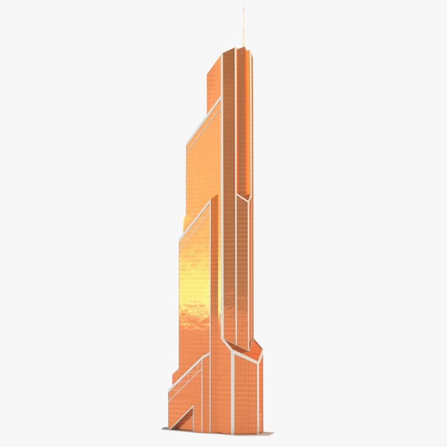 Mercury City Tower royalty-free 3d model - Preview no. 2