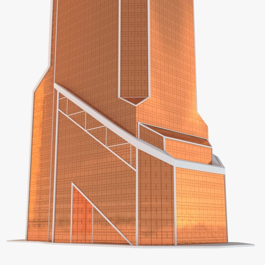 Mercury City Tower royalty-free 3d model - Preview no. 9