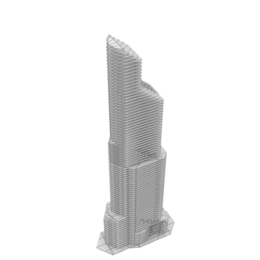 Mercury City Tower royalty-free 3d model - Preview no. 13