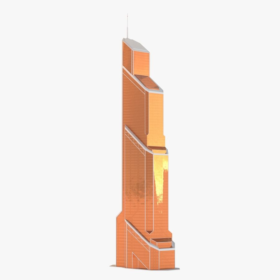 Mercury City Tower royalty-free 3d model - Preview no. 4