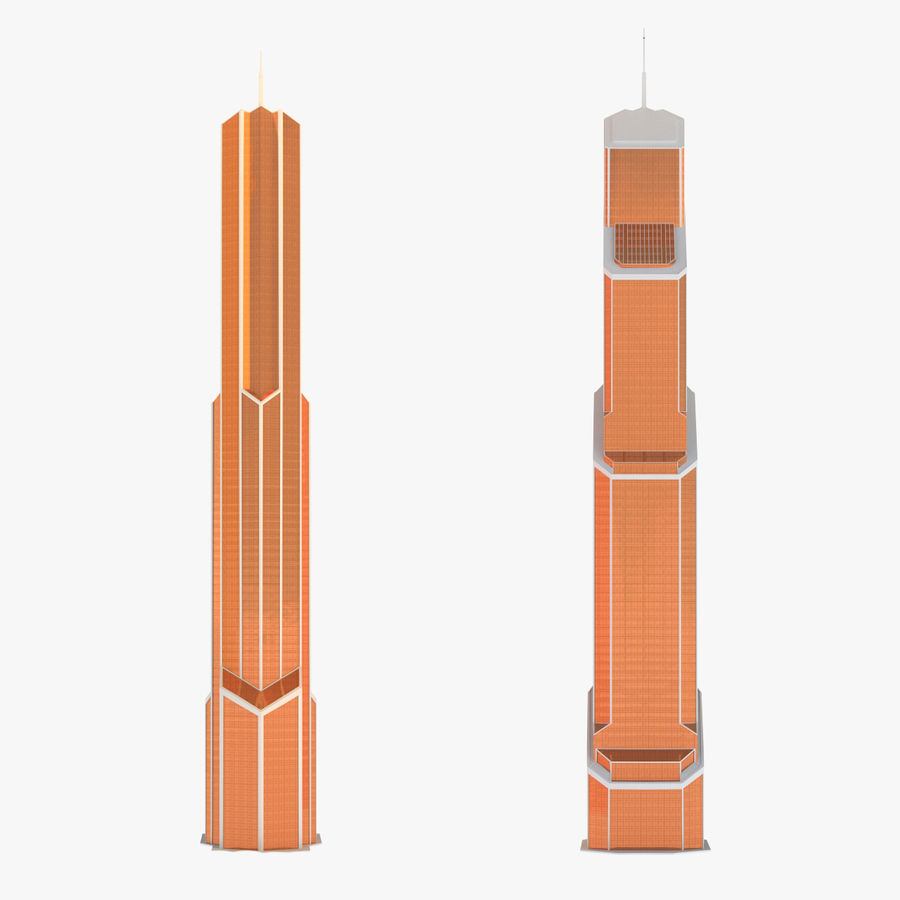Mercury City Tower royalty-free 3d model - Preview no. 8
