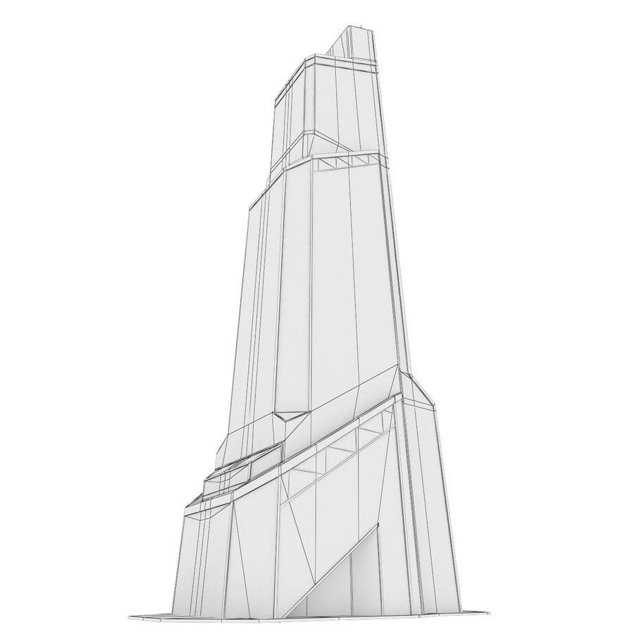 Mercury City Tower royalty-free 3d model - Preview no. 17