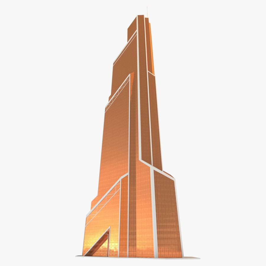 Mercury City Tower royalty-free 3d model - Preview no. 5