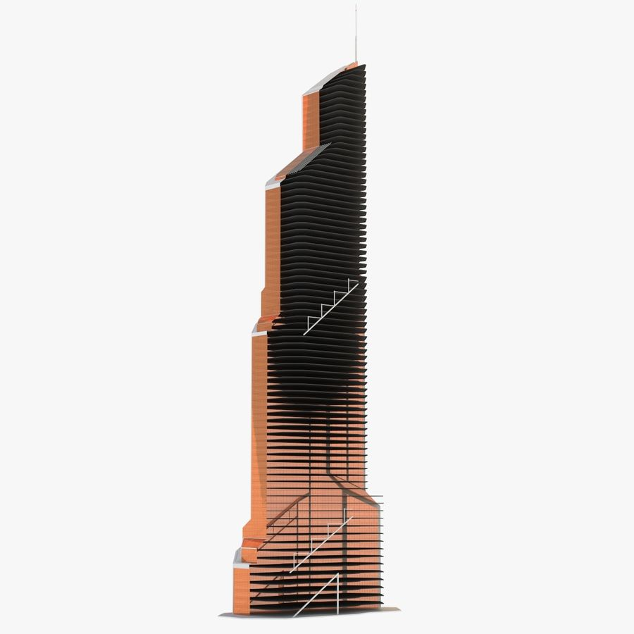Mercury City Tower royalty-free 3d model - Preview no. 16