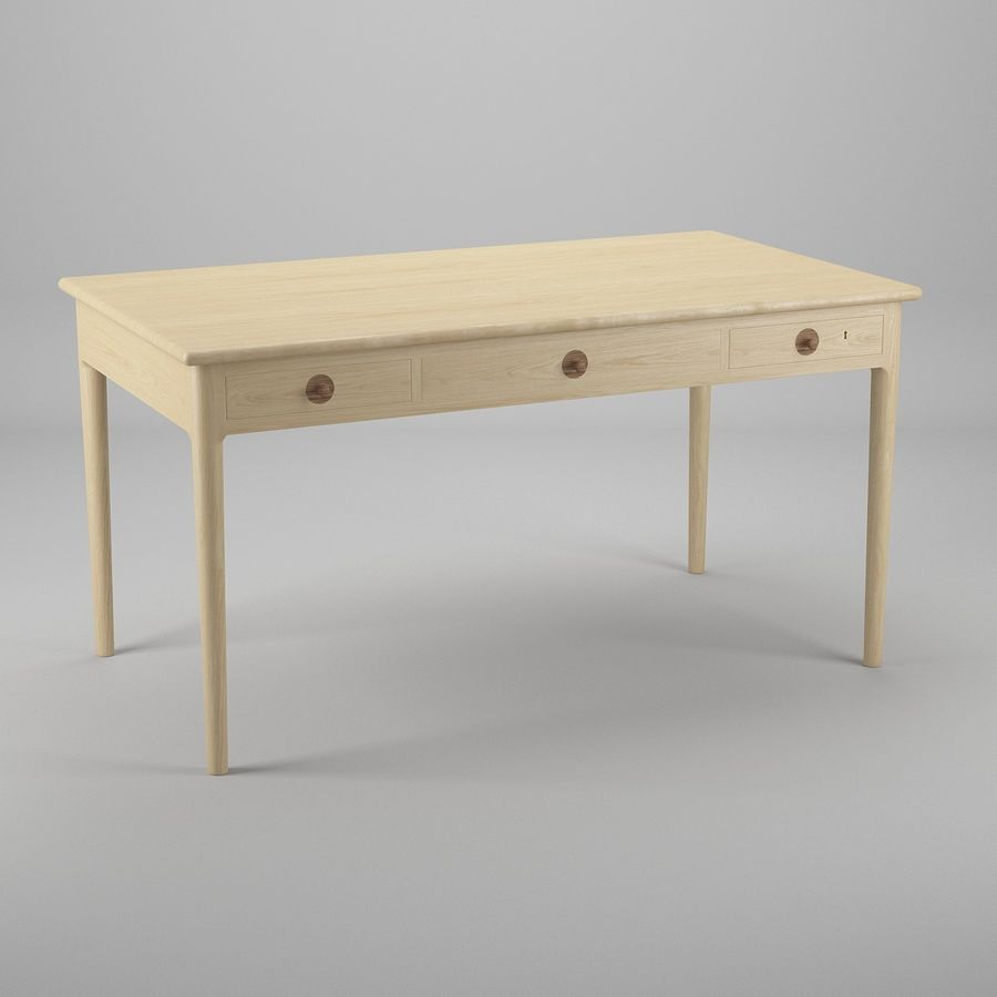 PP305 Desk - Hans J Wegner royalty-free 3d model - Preview no. 2