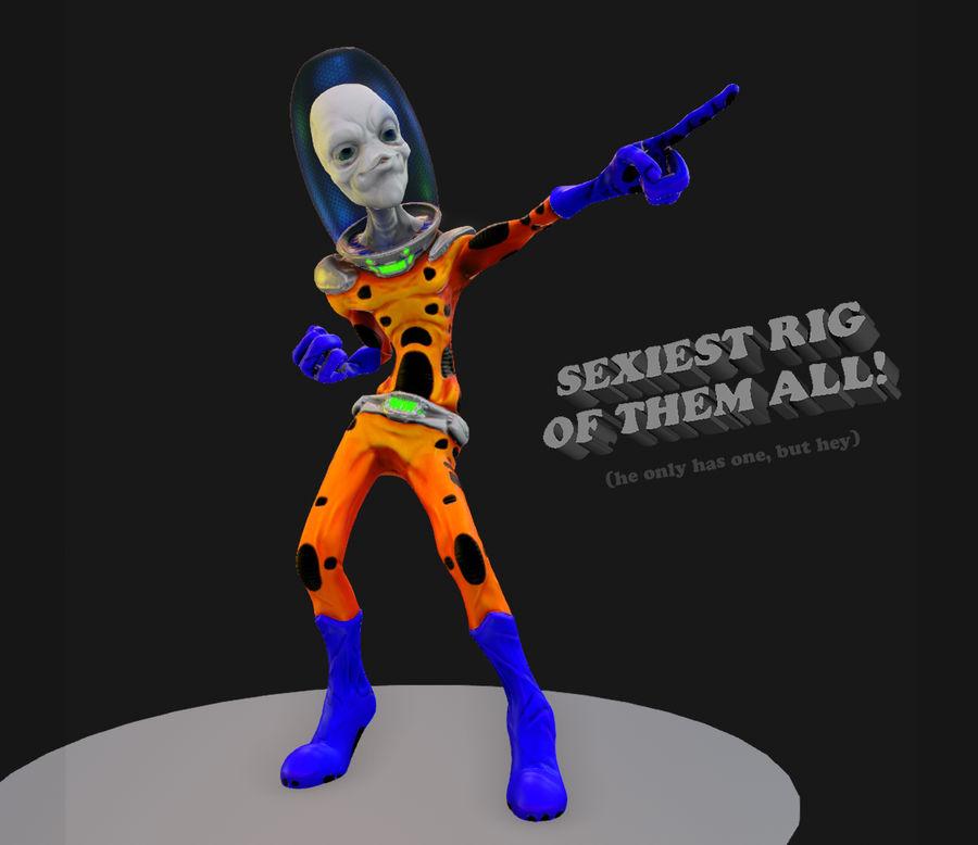 Personagem Alienígena Game Ready Modelo 3D $30 -  unknown