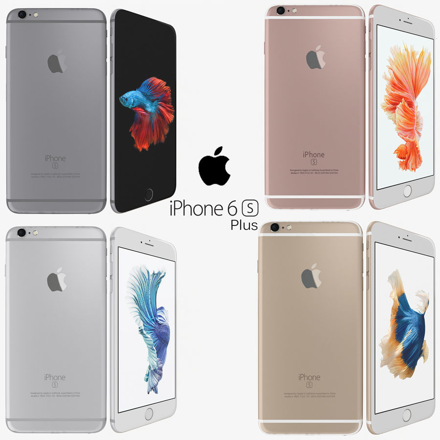 Apple iPhone 6s Plus Collection royalty-free 3d model - Preview no. 1