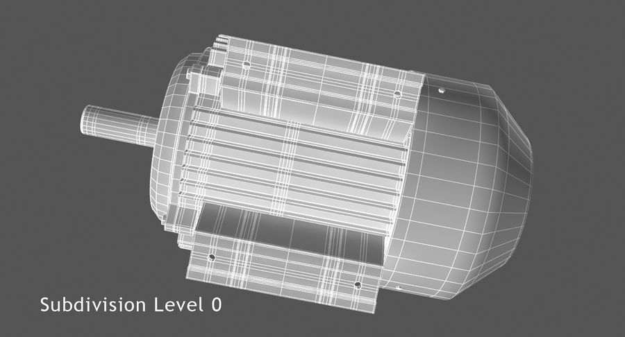 Electric Motor royalty-free 3d model - Preview no. 8