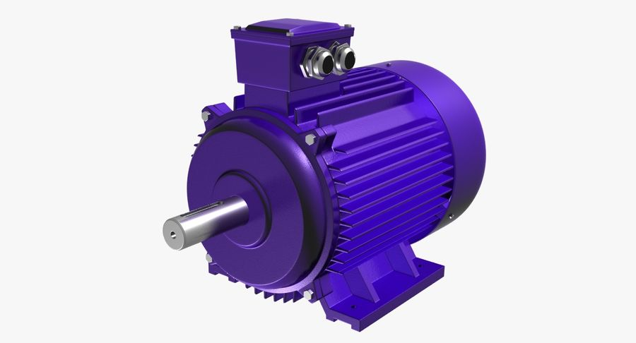 Electric Motor royalty-free 3d model - Preview no. 12