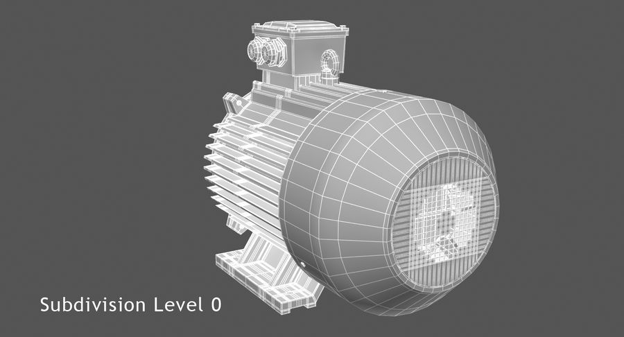 Electric Motor royalty-free 3d model - Preview no. 6