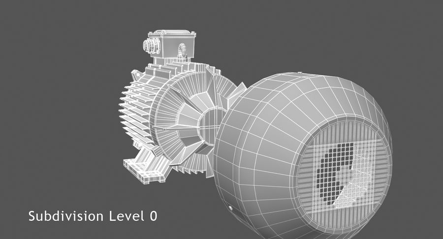Electric Motor royalty-free 3d model - Preview no. 10