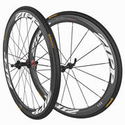 Carbon Fiber Cycling Bicycle Wheels Groupset 3d model