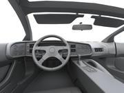 low-poly car XJ220 salon 3d model