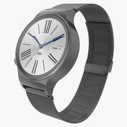 Huawei Watch 3 Dark Metal Band 3D Model 3d model