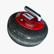 Curling Rock 3d model