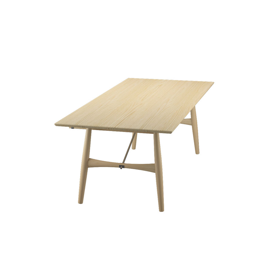 Desk PP571 - Hans J Wegner royalty-free 3d model - Preview no. 8
