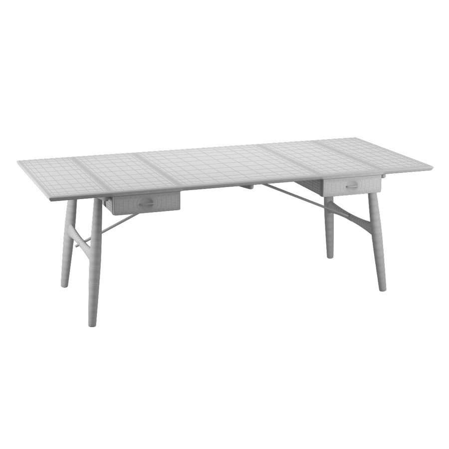 Desk PP571 - Hans J Wegner royalty-free 3d model - Preview no. 11