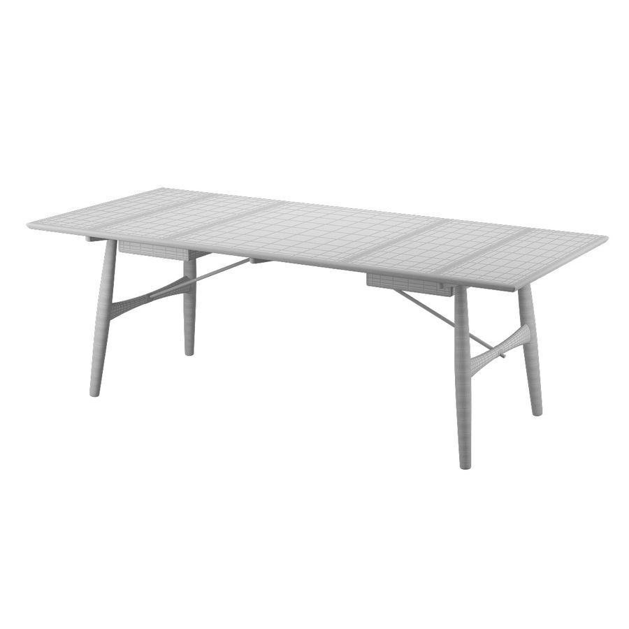 Desk PP571 - Hans J Wegner royalty-free 3d model - Preview no. 12