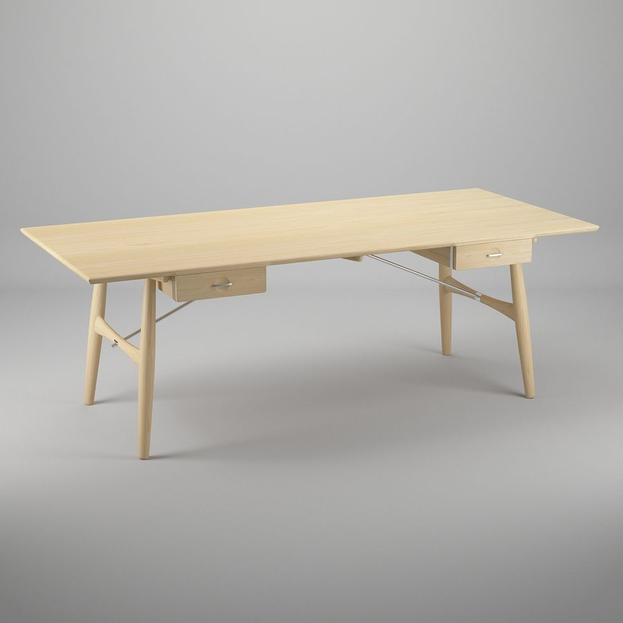 Desk PP571 - Hans J Wegner royalty-free 3d model - Preview no. 2