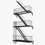 Yangın Merdiveni 3d model