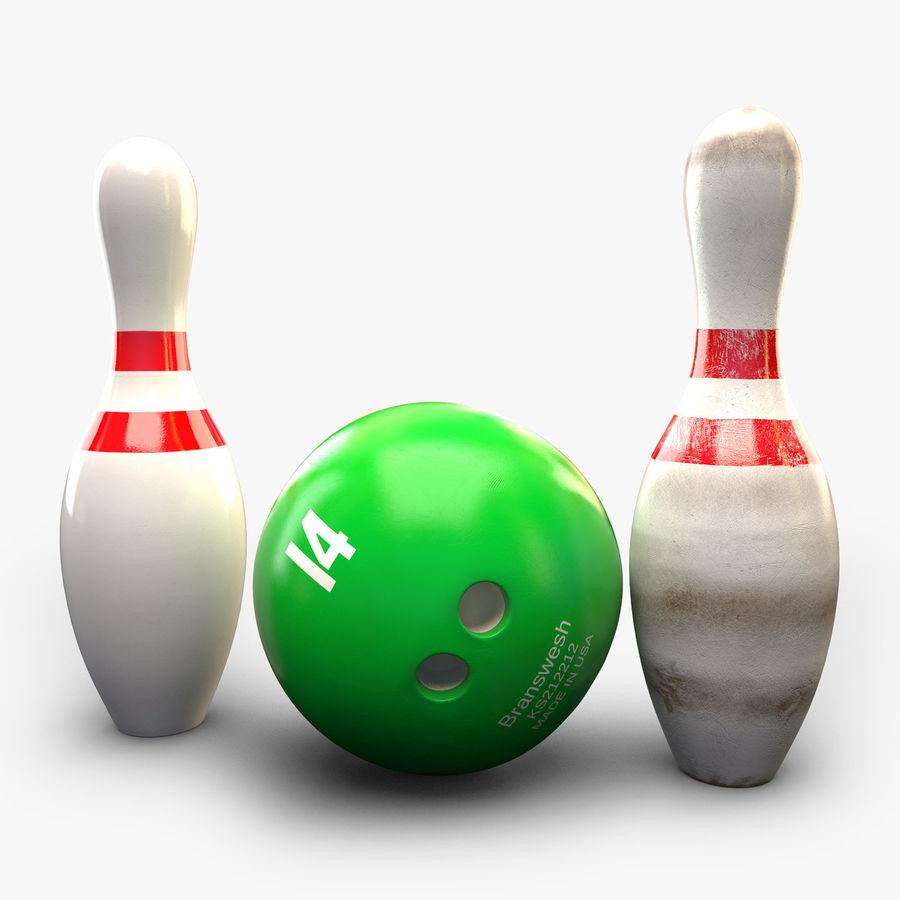 Bowling Balls Pins Lane royalty-free 3d model - Preview no. 5