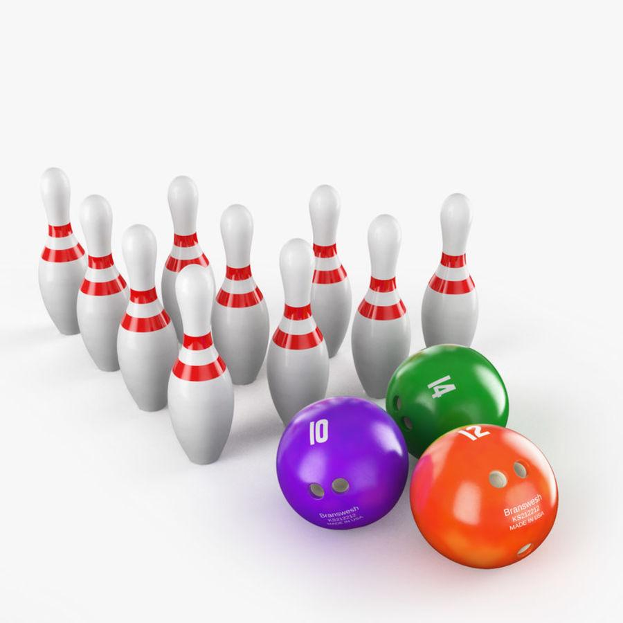 Bowling Balls Pins Lane royalty-free 3d model - Preview no. 2