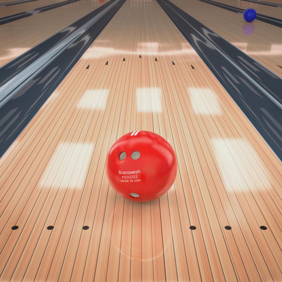 Bowling Balls Pins Lane royalty-free 3d model - Preview no. 7