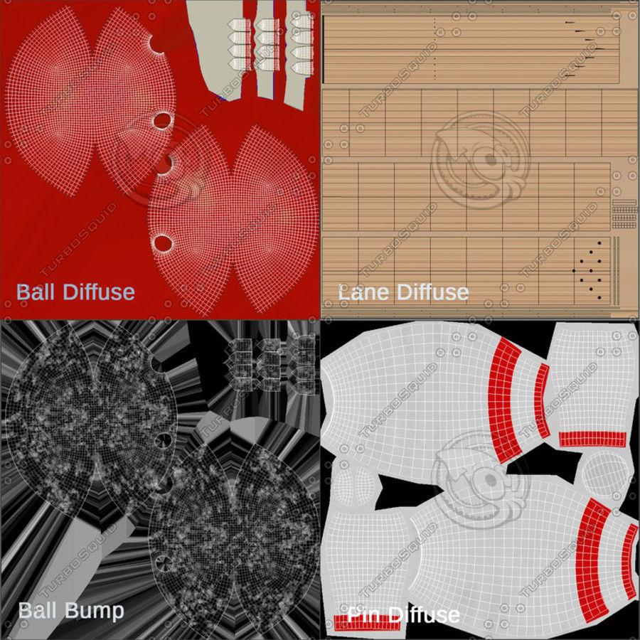Bowling Balls Pins Lane royalty-free 3d model - Preview no. 14