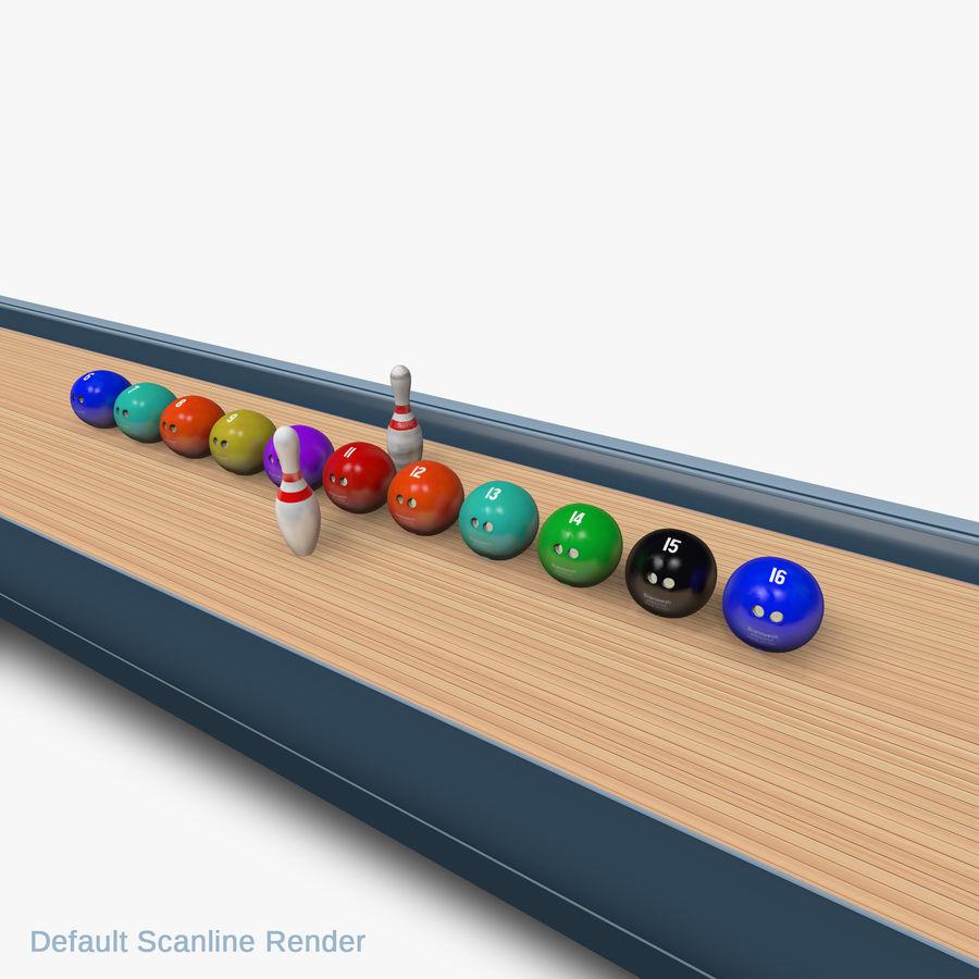 Bowling Balls Pins Lane royalty-free 3d model - Preview no. 9