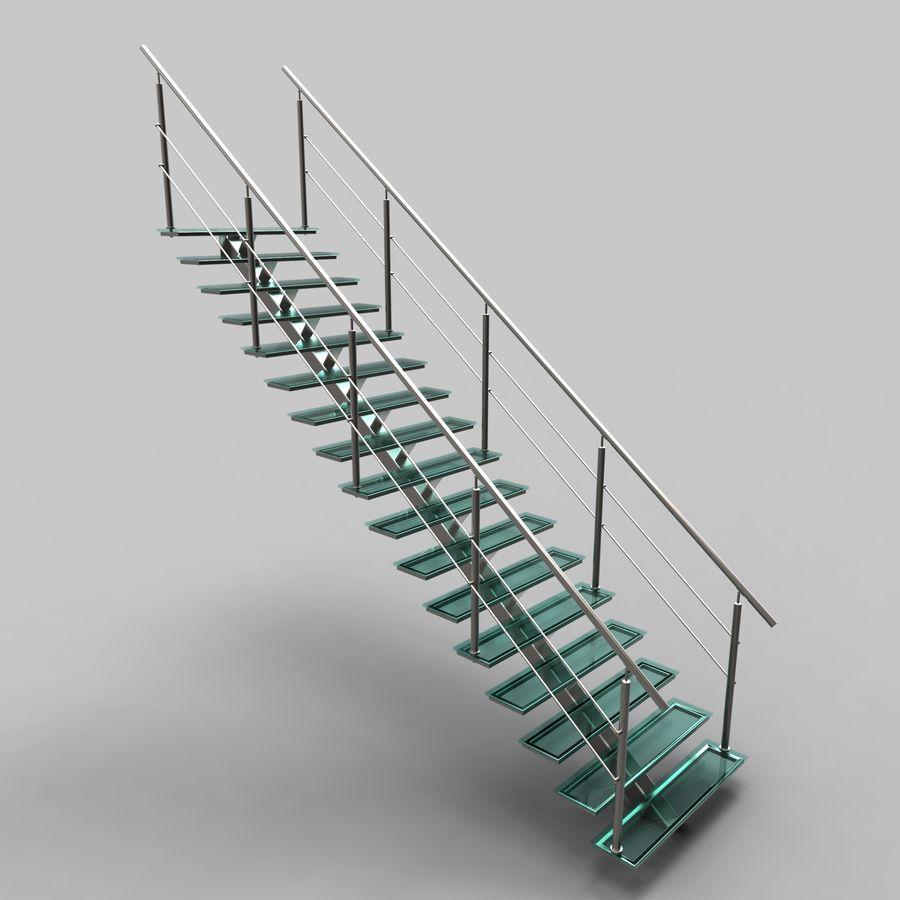 Escalier moderne en verre modèle 3D $39 - .unknown .max .sldas .obj ...