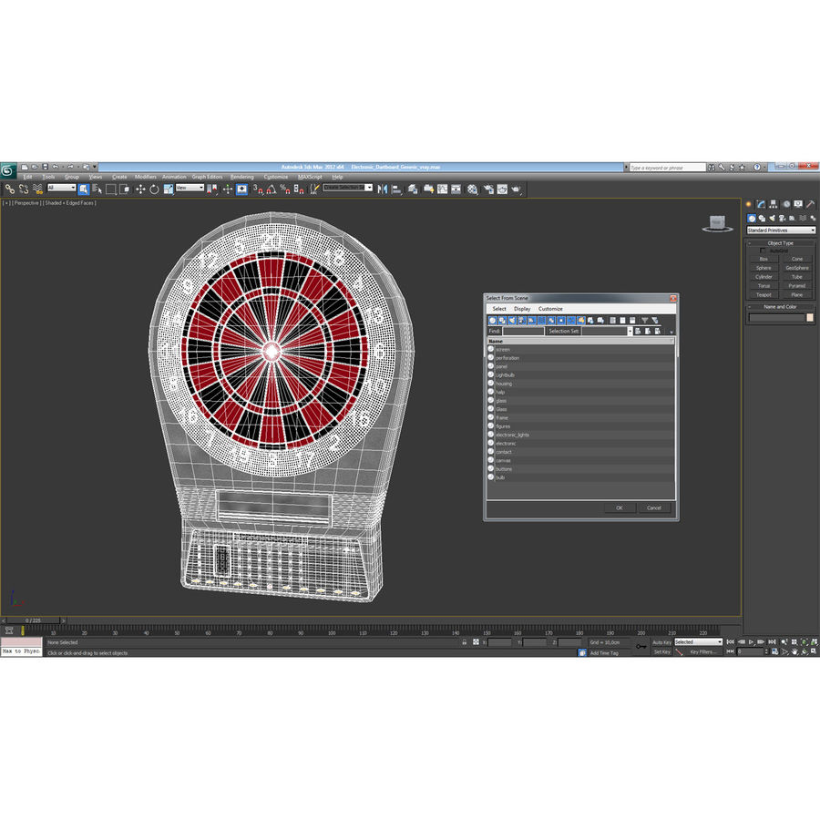 Dartboard Eletrônico Genérico royalty-free 3d model - Preview no. 15